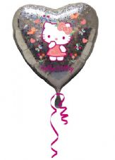 Hello Kitty Heart Foil Helium Balloon
